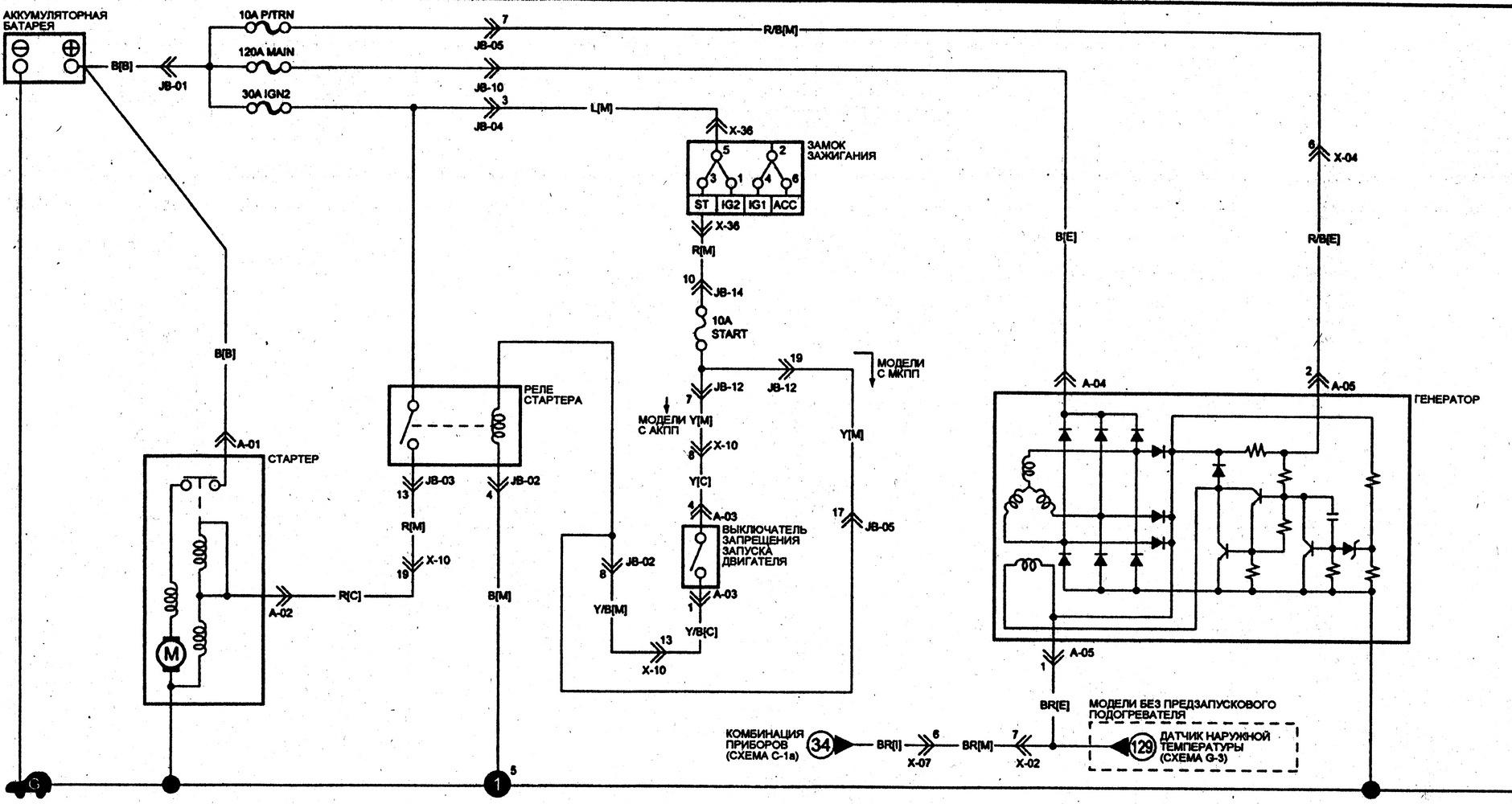 схема подключения догревателей вебасто